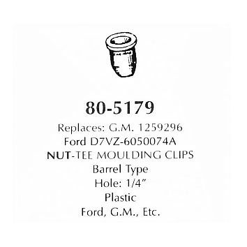 Nut - tee moulding clips