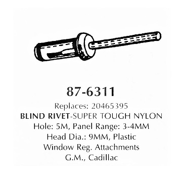 Blind rivet - super tough nylon