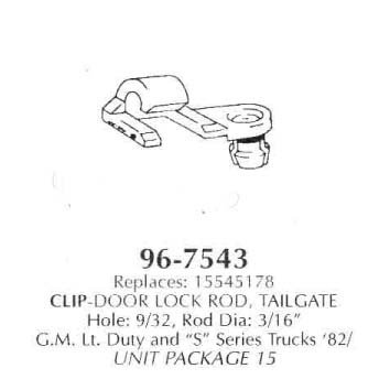 Clip-Door Lock Rod, Tailgate