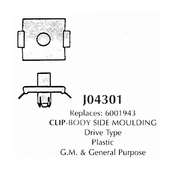 Clip- body side Moulding, plastic